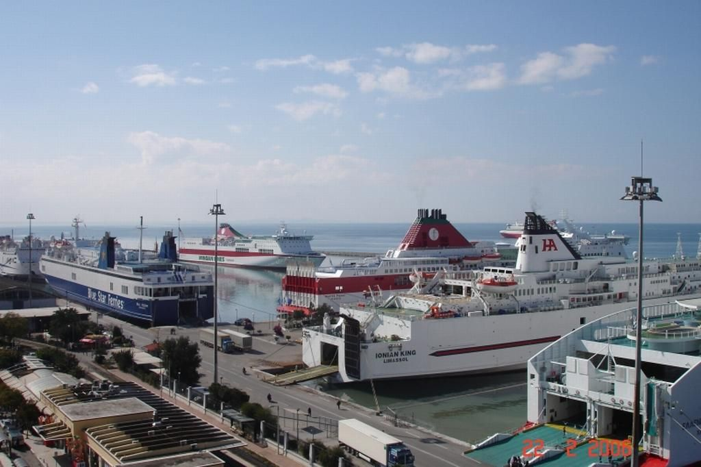 Patra Traffic Jam At The Port Of Patras Because Of The S